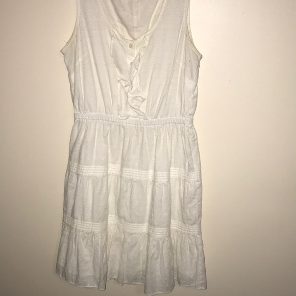 GAP Dresses & Skirts - White ruffle dress